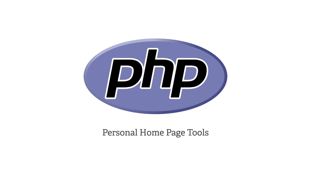 Personal Home Page Tools