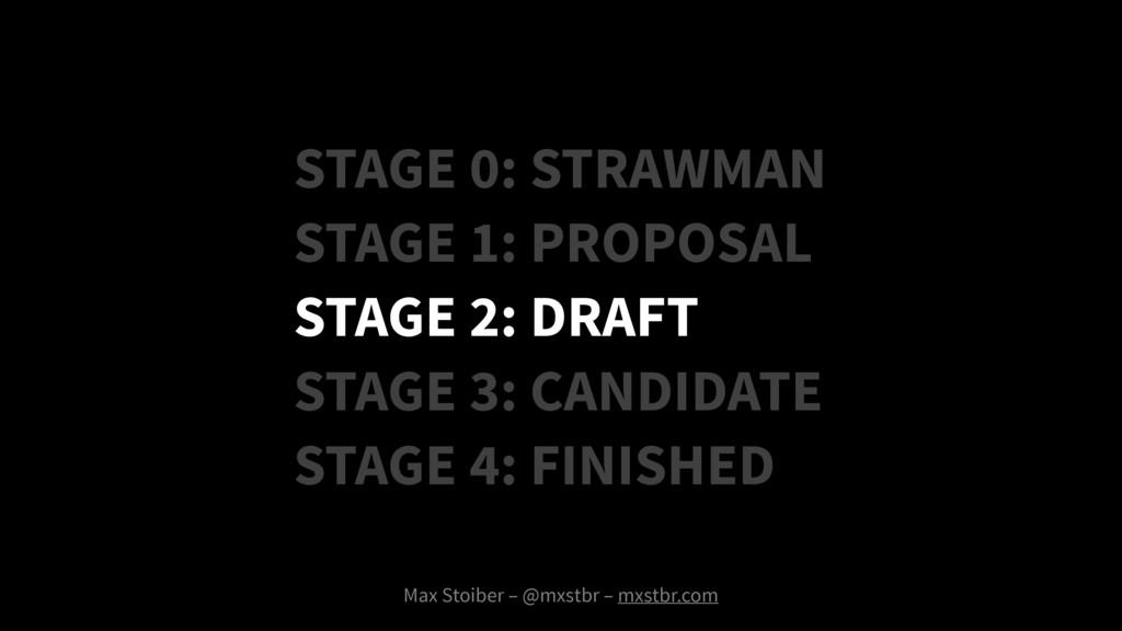 Max Stoiber – @mxstbr – mxstbr.com STAGE 0: STR...