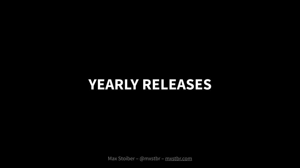 Max Stoiber – @mxstbr – mxstbr.com YEARLY RELEA...