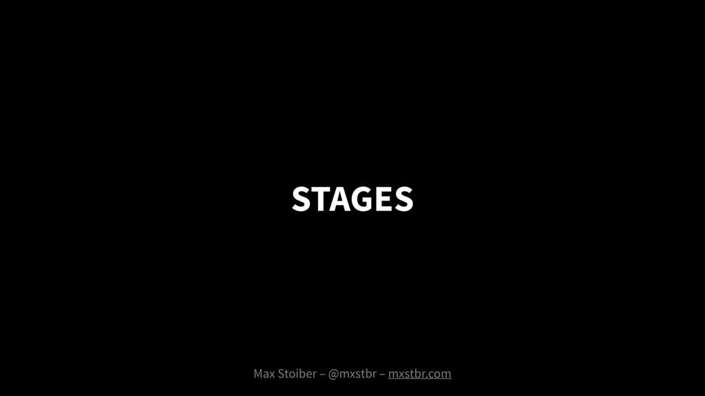 Max Stoiber – @mxstbr – mxstbr.com STAGES