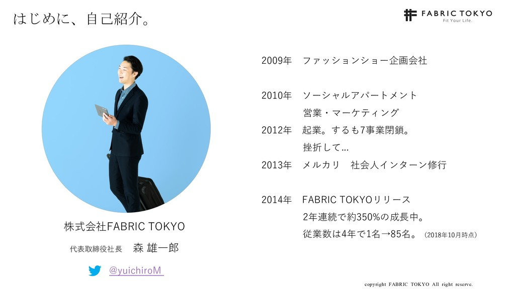 copyright FABRIC TOKYO All right reserve. 3 はじめ...