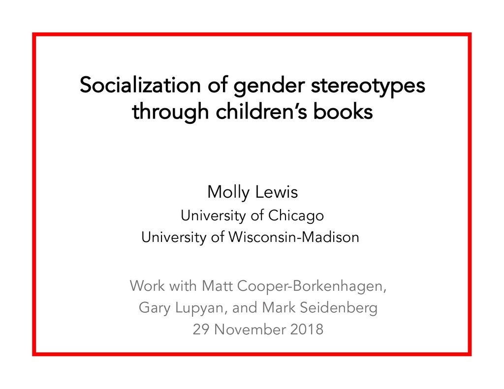 Socialization of gender stereotypes through chi...