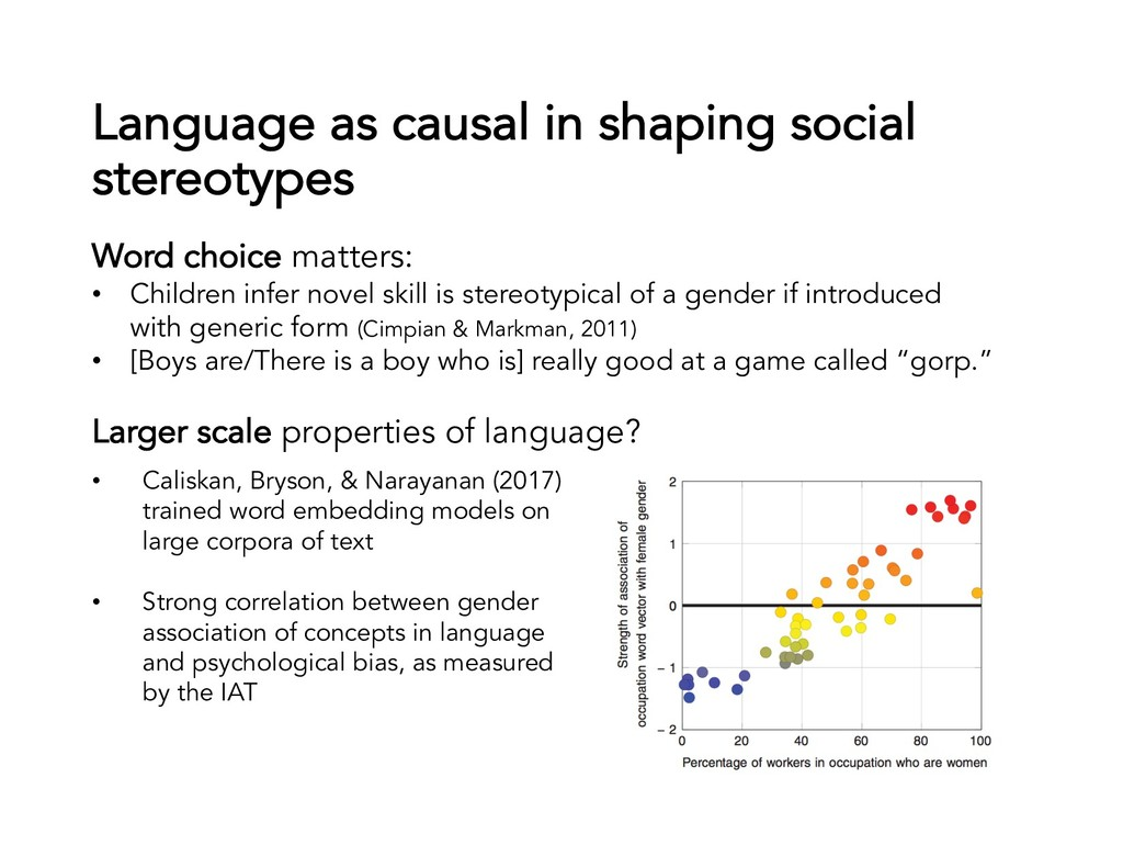 Language as causal in shaping social stereotype...