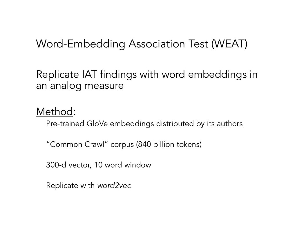 Word-Embedding Association Test (WEAT) Replicat...