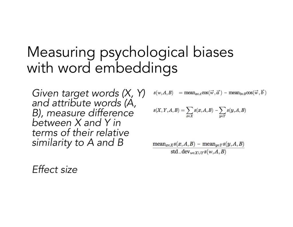 Measuring psychological biases with word embedd...