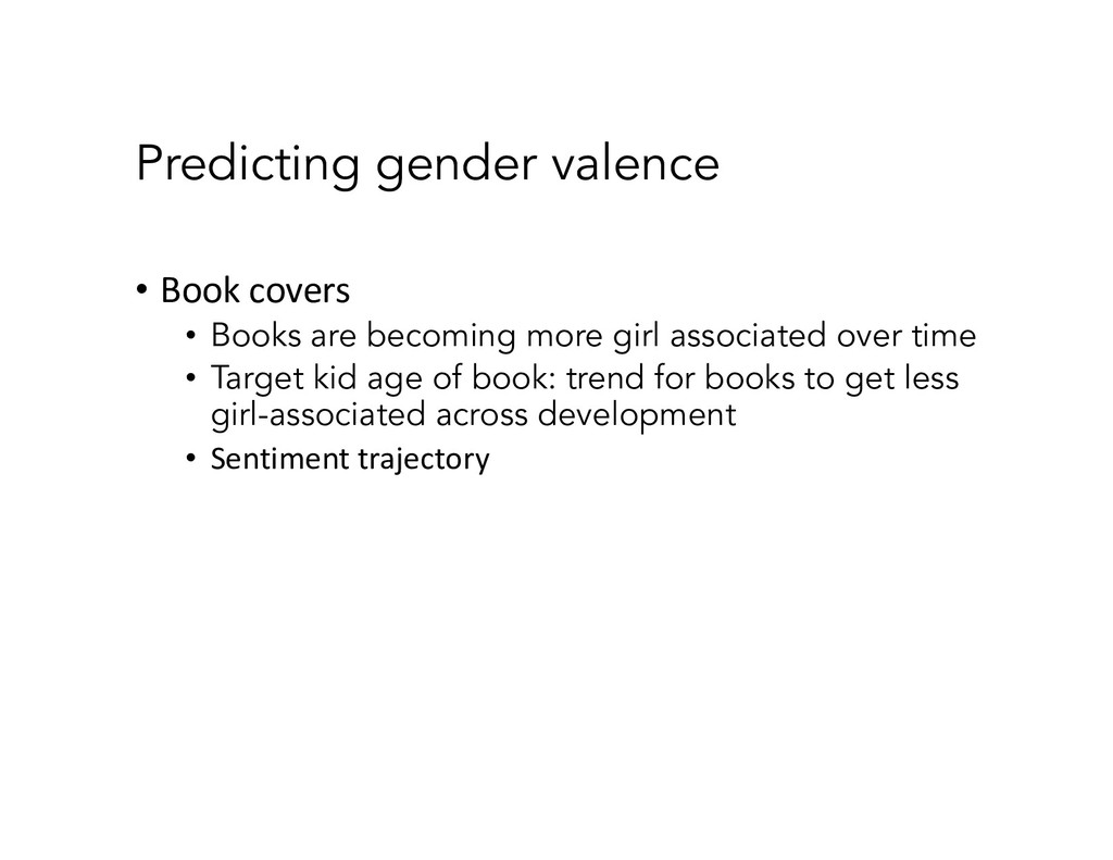 Predicting gender valence • Book covers • Books...