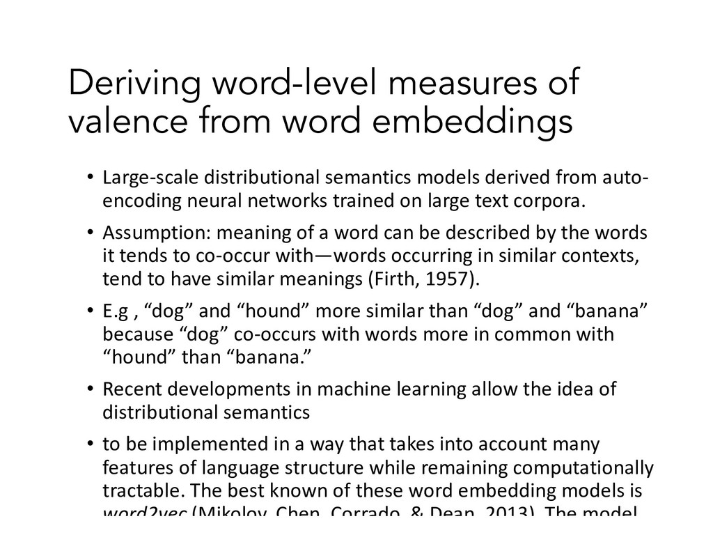 Deriving word-level measures of valence from wo...
