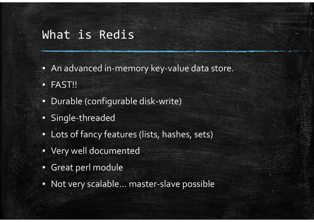 What is Redis ▪ An advanced in-memory key-value...