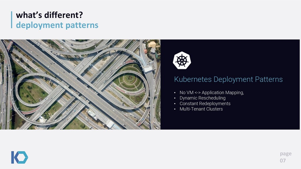 what's different? deployment patterns page 07 •...