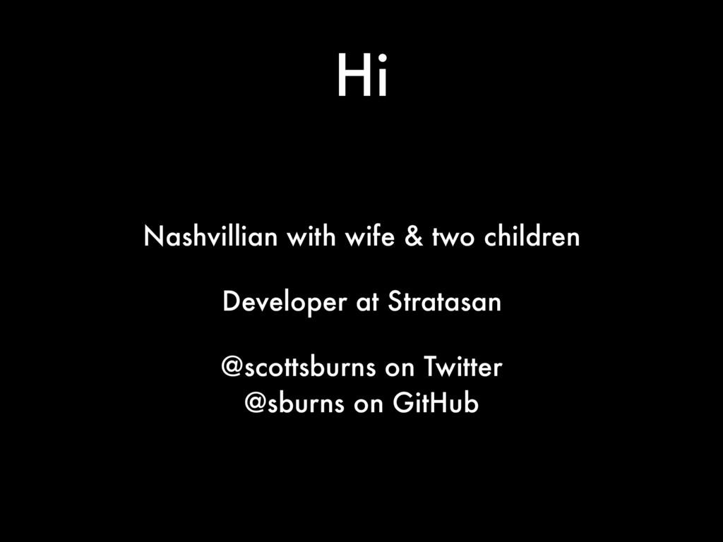 Hi Nashvillian with wife & two children Develop...