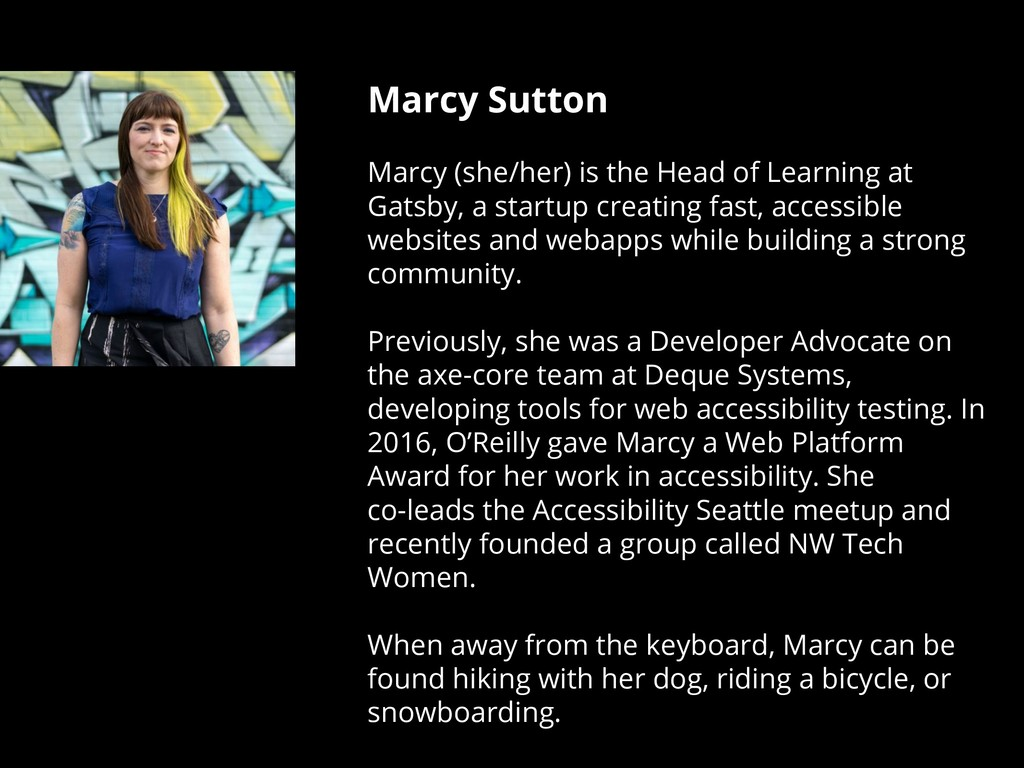 Marcy Sutton Marcy (she/her) is the Head of Lea...