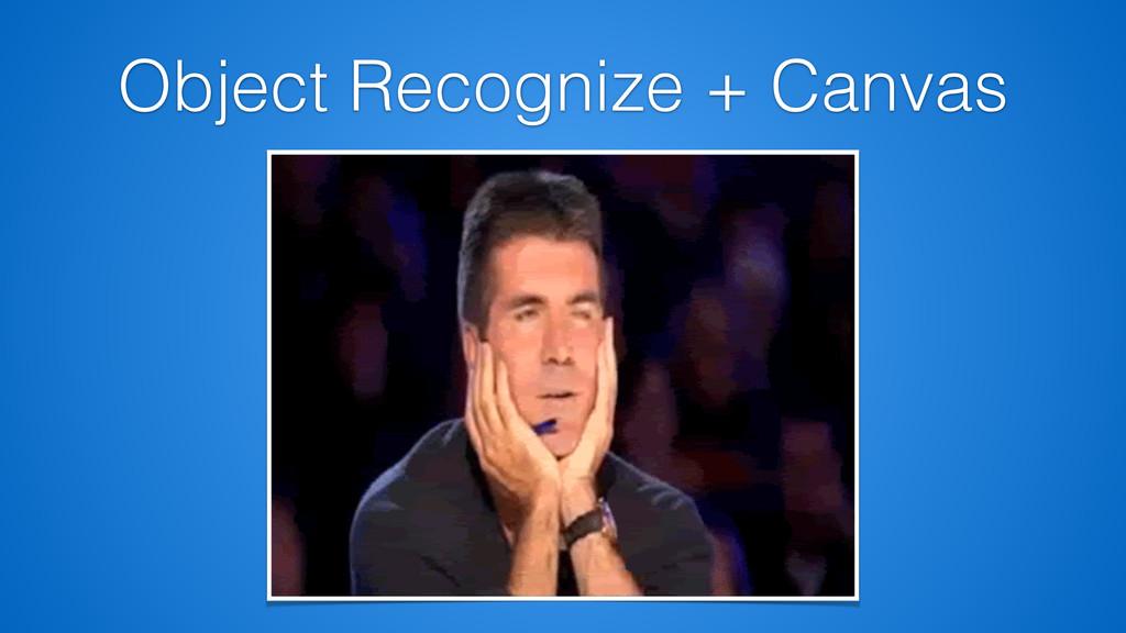 Object Recognize + Canvas