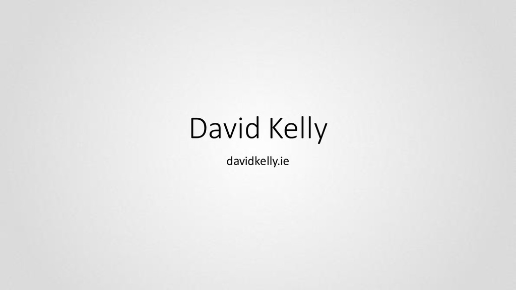 David Kelly davidkelly.ie
