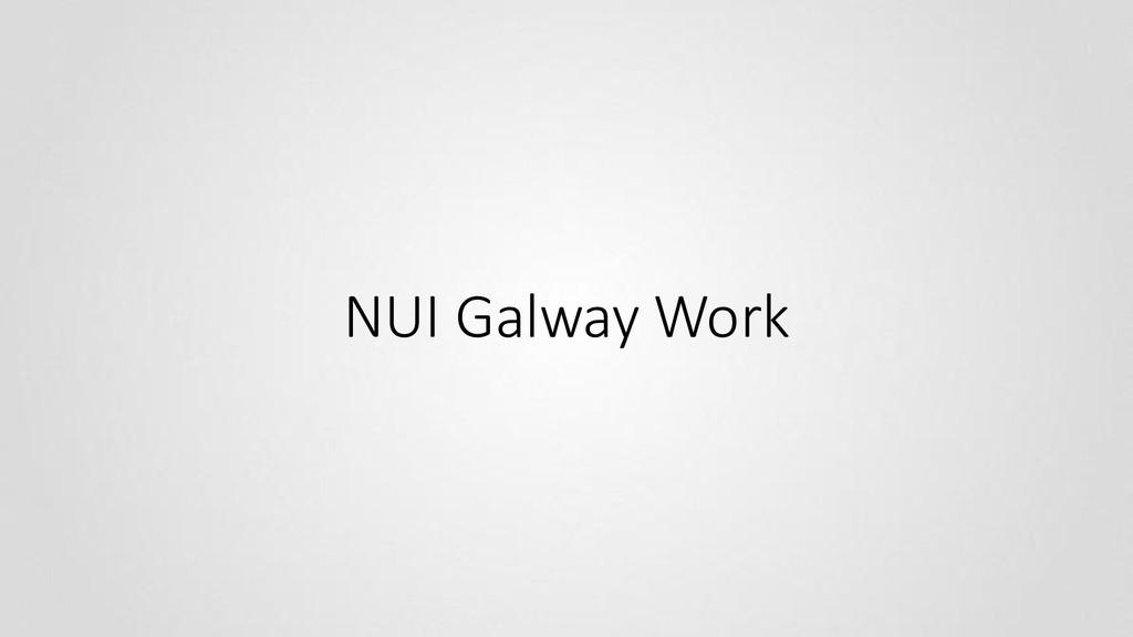 NUI Galway Work