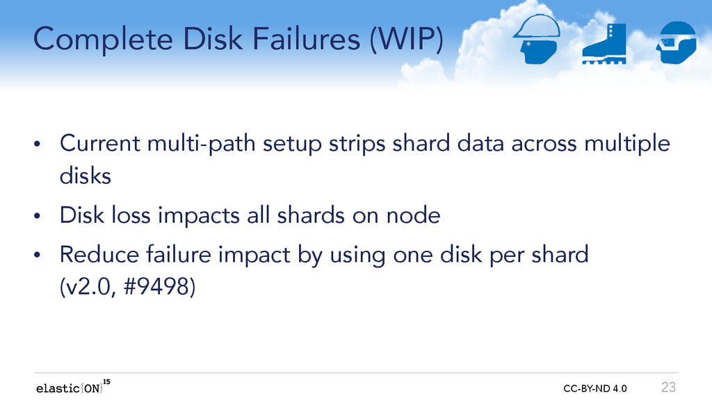 { } CC-BY-ND 4.0 Complete Disk Failures (WIP) •...
