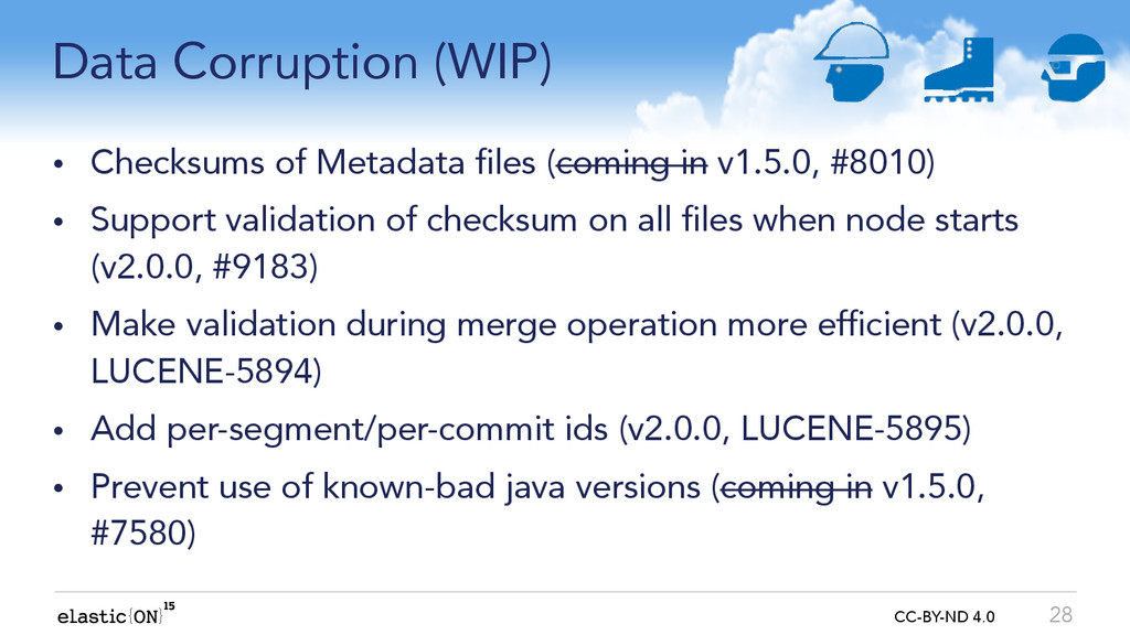 { } CC-BY-ND 4.0 Data Corruption (WIP) • Checks...