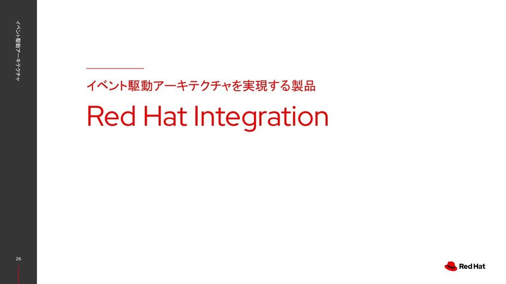 イベント駆動アーキテクチャ 26 イベント駆動アーキテクチャを実現する製品 Red Hat I...