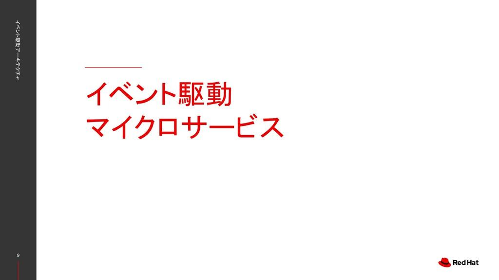 イベント駆動 マイクロサービス イベント駆動アーキテクチャ 9