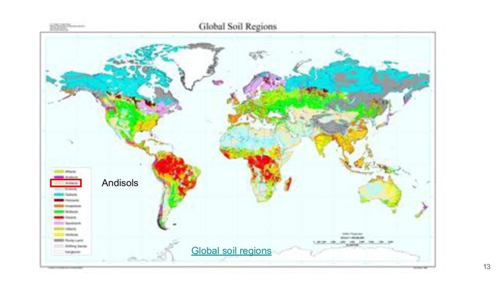 13 Global soil regions Andisols