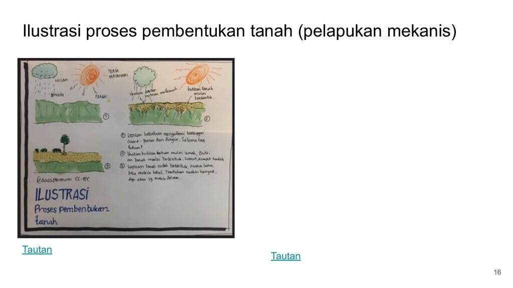 Ilustrasi proses pembentukan tanah (pelapukan m...