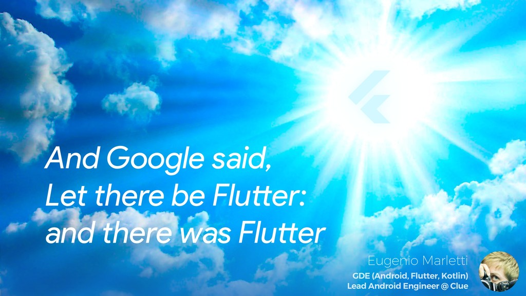 And Google said, Let there be Flu!er: and there...