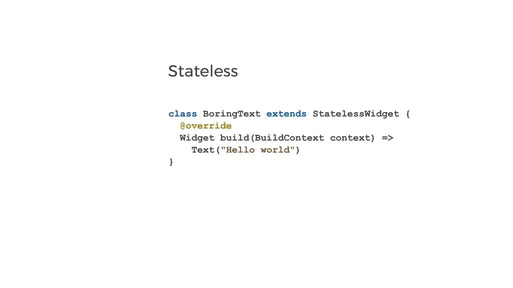 Stateless class BoringText extends StatelessWid...
