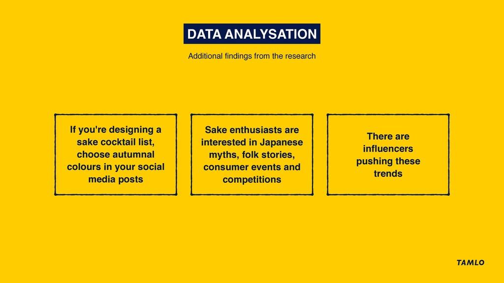 DATA ANALYSATION Sake enthusiasts are intereste...