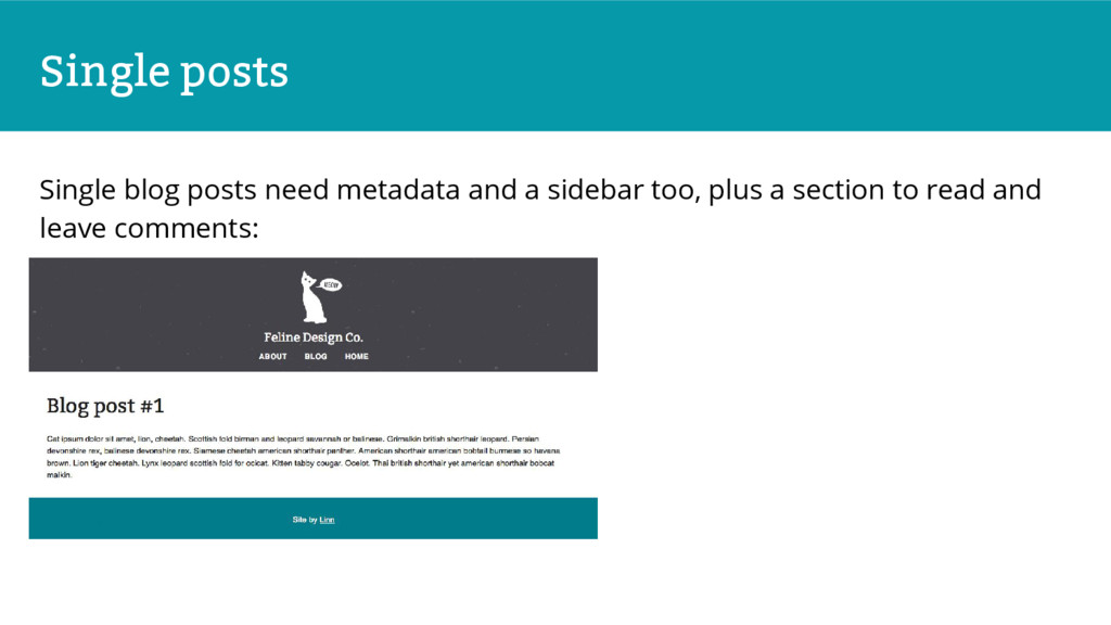 Single posts Single blog posts need metadata an...