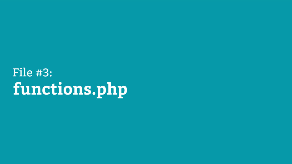 File #3: functions.php