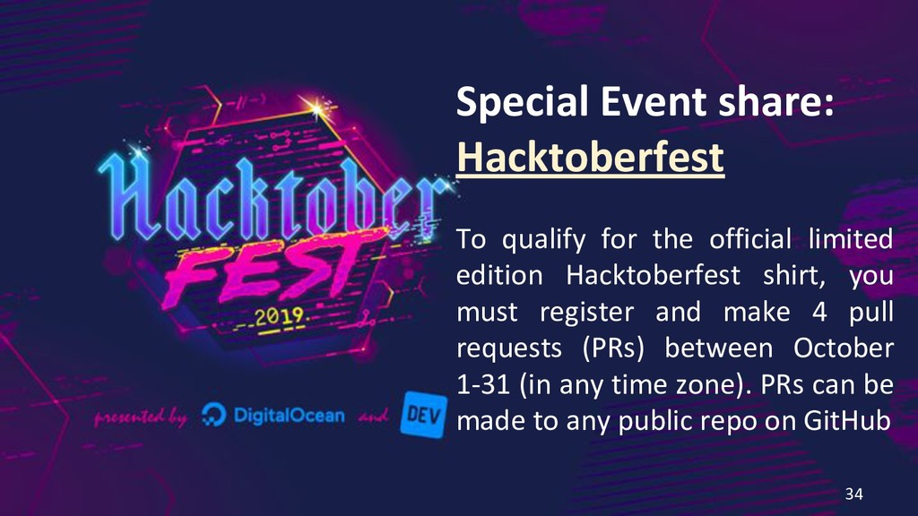 Special Event share: Hacktoberfest To qualify f...