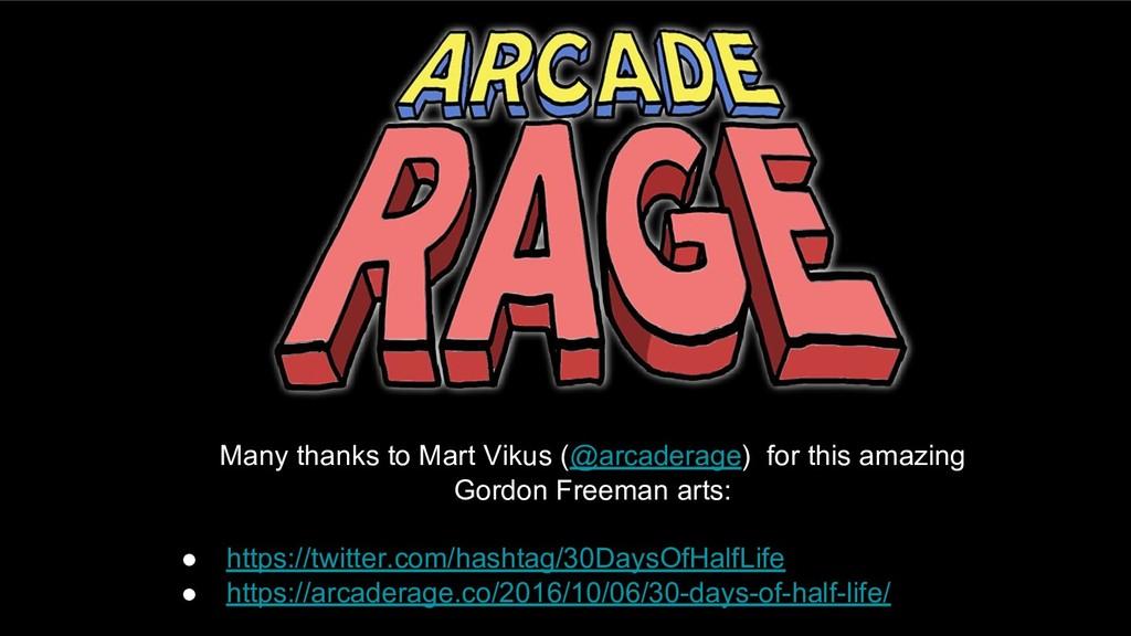 Many thanks to Mart Vikus (@arcaderage) for thi...