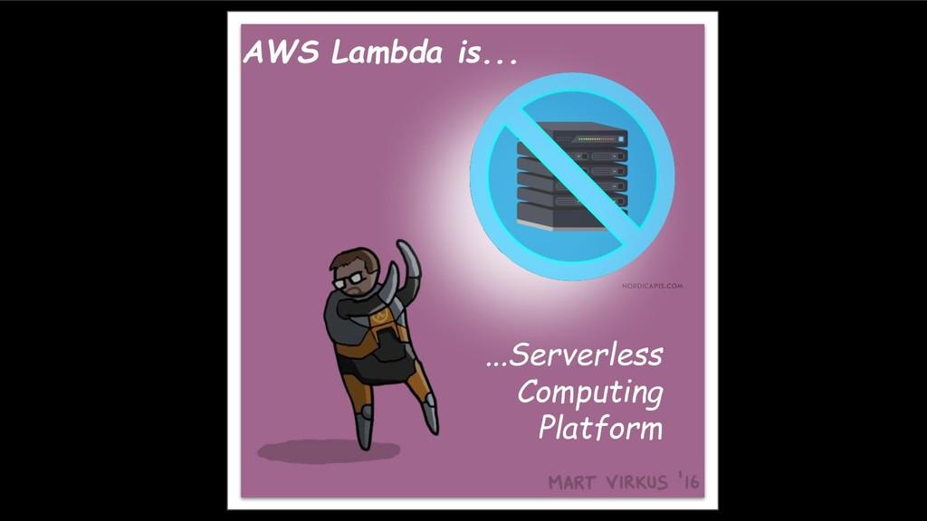 AWS Lambda is... ...Serverless Computing Platfo...
