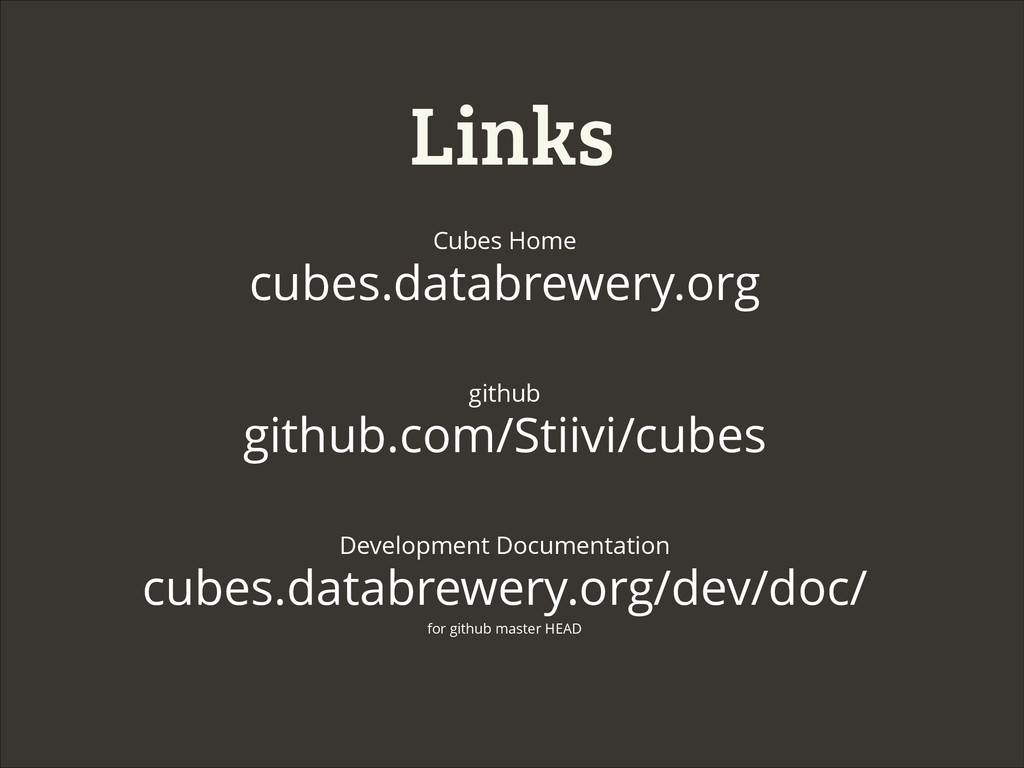Links Cubes Home cubes.databrewery.org github g...