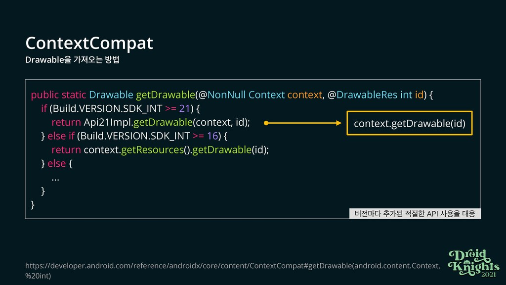 ContextCompat   Drawableਸ оઉয়ח ߑߨ public static...