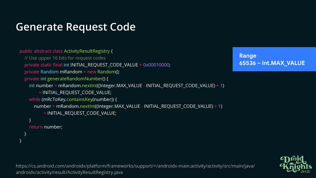 Generate Request Code public abstract class Act...