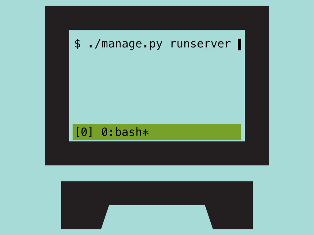 $ ./manage.py runserver ▌ [0] 0:bash*