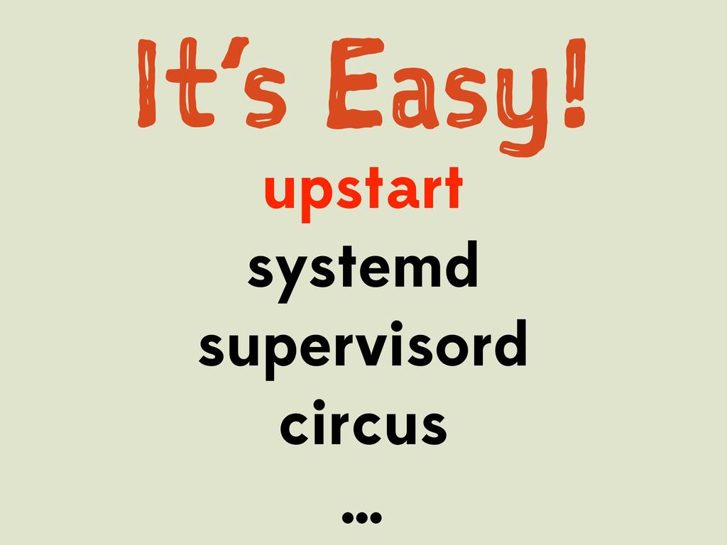 I's Es! upstart systemd supervisord circus …
