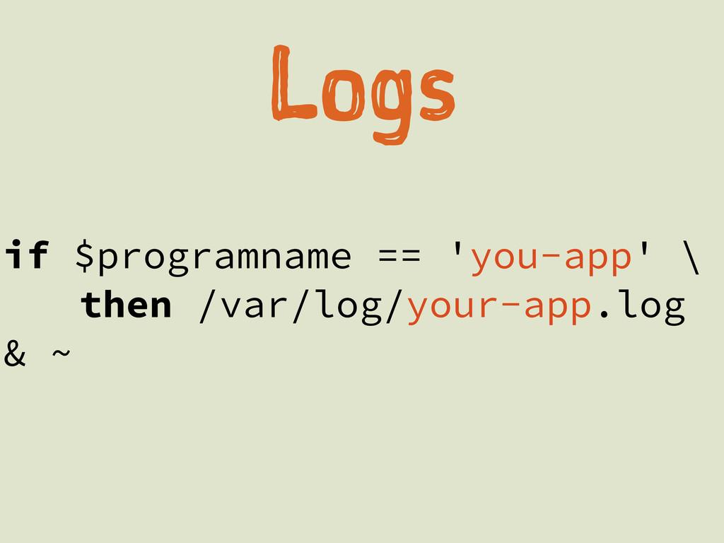 Lg if $programname == 'you-app' \ then /var/l...