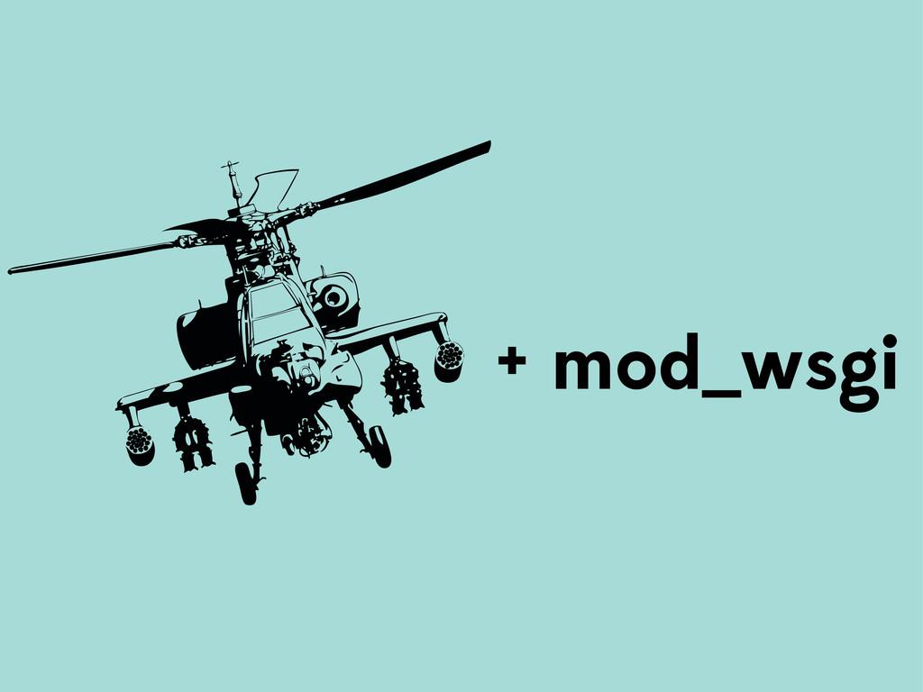 + mod_wsgi