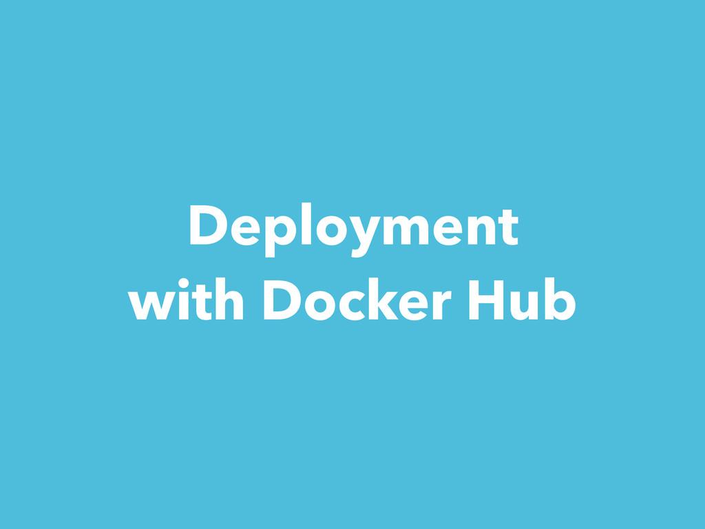Deployment with Docker Hub