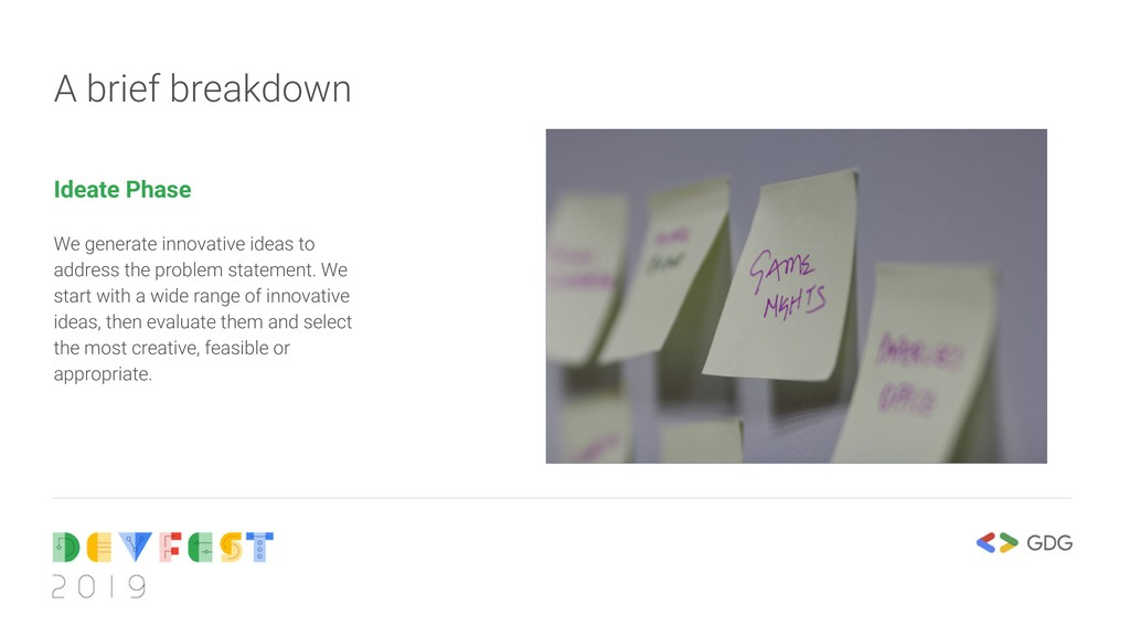 A brief breakdown Ideate Phase We generate inno...
