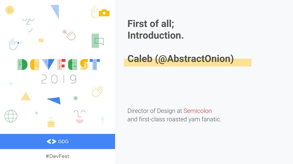 First of all; Introduction. Caleb (@AbstractOni...