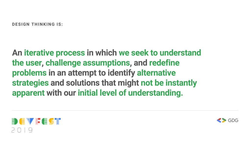 An iterative process in which we seek to unders...