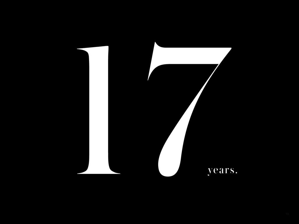17 years. 15