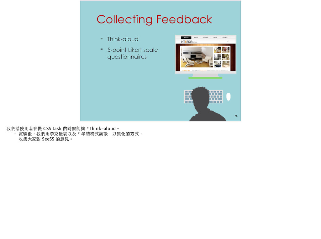 Collecting Feedback ≡ Think-aloud ≡ 5-point Lik...