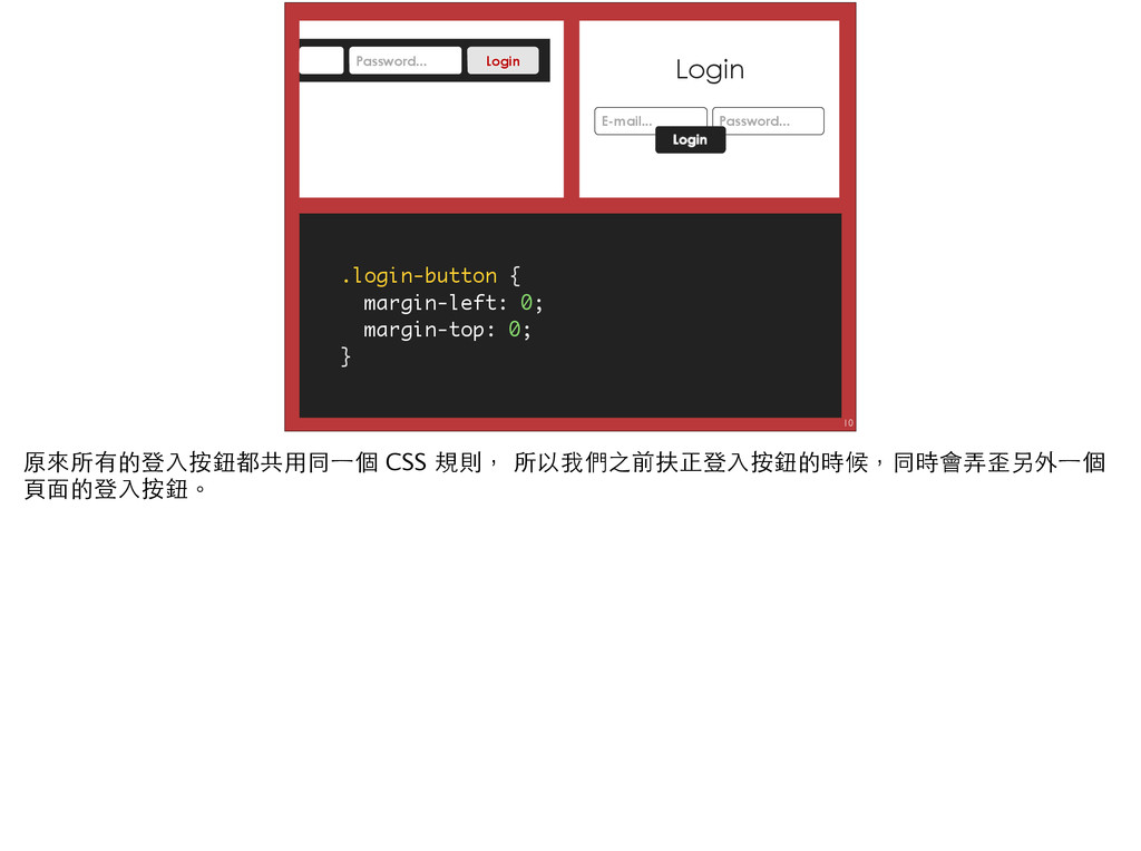 10 .login-button { margin-left: 0; margin-top: ...