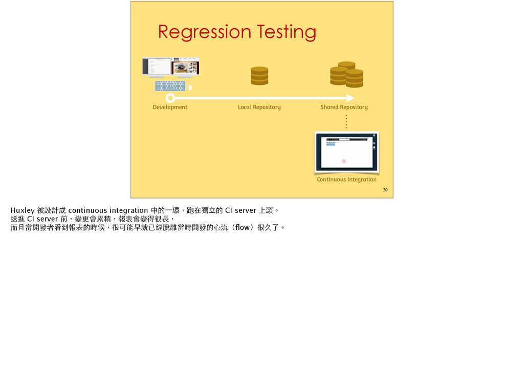Regression Testing 20 Development Continuous In...