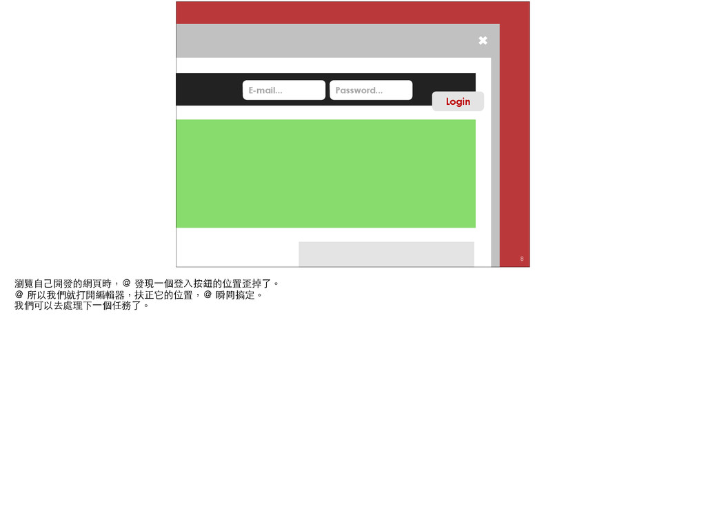 ✖ Login Password... E-mail... ✖ Login Password....