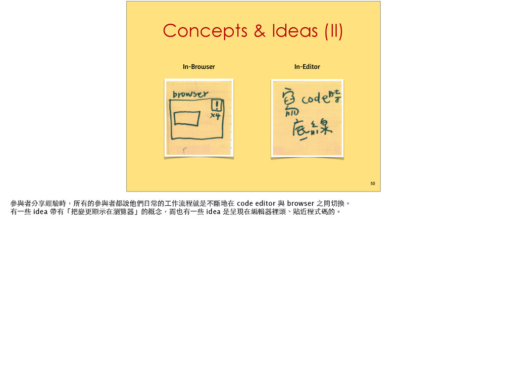 Concepts & Ideas (II) 50 In-Editor In-Browser ĝ...