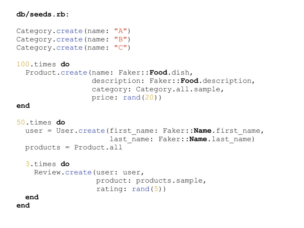 """db/seeds.rb: Category.create(name: """"A"""") Categor..."""